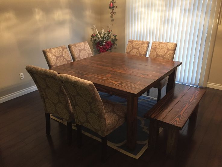 Square Farmhouse Table | Do It Yourself Home Projects from Ana White