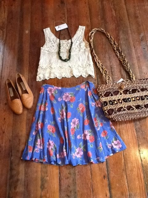 ah: Shops Trips, Skirts, Fashion Toast, Clothes Outfits, Clothing Outfits, Fashion Styl, Spring Fashion Combos, Floral