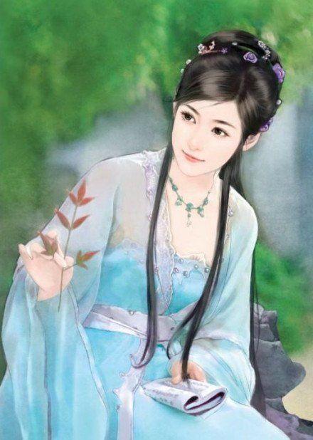Beautiful blue lady