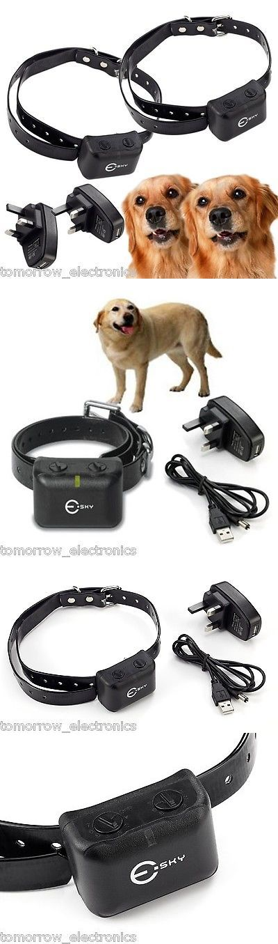 Bark Collars 66774: 2Pcs Waterproof Rechargeable Medium Large Anti Bark No Barking Dog Shock Collar BUY IT NOW ONLY: $41.69