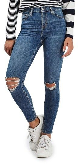 Women's Topshop Moto Jamie Ripped High Rise Ankle Skinny Jeans