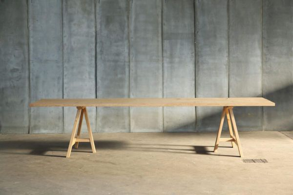 Trestle table - made to measure in French oak by Heerenhuis