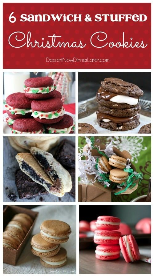 6 Sandwich Stuffed Christmas Cookies Baking Made Easy In 2019