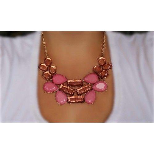 Náhrdelník Baruta Pink | Womanology.sk #nahrdelnik #necklace #chokernecklace #necklaces #bijouterie #halskette #bijoux #schmuck #accessories #fashionjewelry #fashionjewellery #modeschmuck #accessories #doplnky