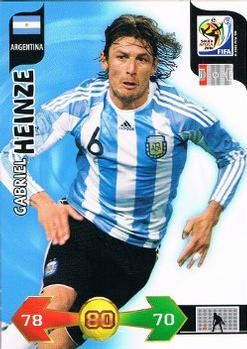 2010 Panini Adrenalyn XL World Cup (International Edition) #8 Gabriel Heinze Front