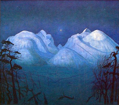 Vinternatt i Rondane (Harald Sohlberg)
