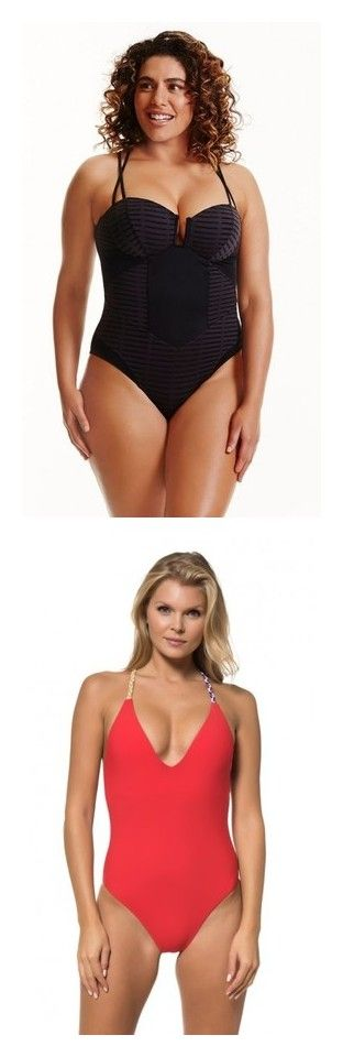 """""""Statement One-Pieces"""" by michelle-251 on Polyvore featuring swimwear, one-piece swimsuits, red carter swimsuit, boho swimsuit, racerback one piece swimsuit, racerback bathing suit et boho one piece bathing suits"""