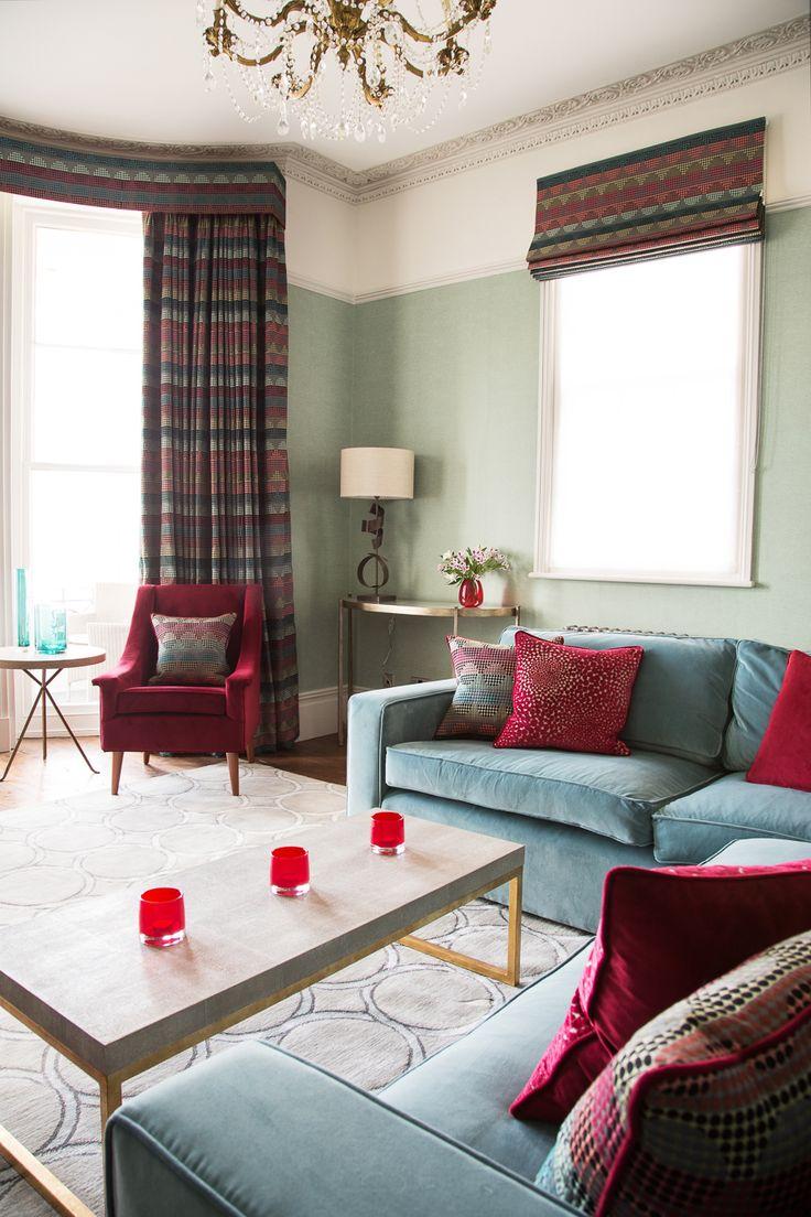 Our Bindi soft furnishing fabric used as