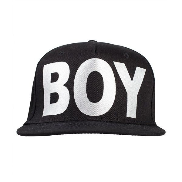Boy London Snapback ($58) ❤ liked on Polyvore featuring accessories, hats, snapback, acessorios, cap, boy london hat, brim cap, cotton hat, boy london and logo snapback hats
