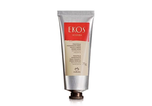 Manteiga Hidratante para Mãos e Áreas Ressecadas Ekos Ucuuba - 75g. AQUI TEM PROMOÇÃO de  R$ 34,20  por R$ 17,10. De textura cremosa e leve, promove reparação imediata e prolongada das mãos. Com rápida absorção na pele, deixa suas mãos macias e delicadamente perfumadas. Ideal para usar ao longo do dia.