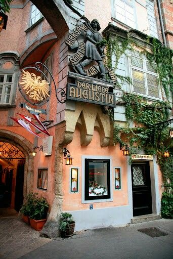 Vienna Restaurant Griechenbeisel Oldest Restaurant in Vienna, since 1447. Mozart's signature is on a wall here along with many other famous people.