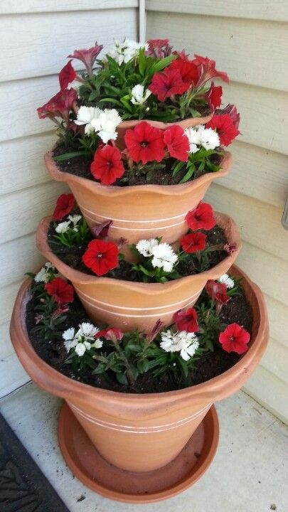 #ContainerGardening / Summer #FlowerPot idea. Pic source: https://s-media-cache-ak0.pinimg.com/originals/f1/3d/04/f13d04cba04f586469fc121313f2f849.jpg