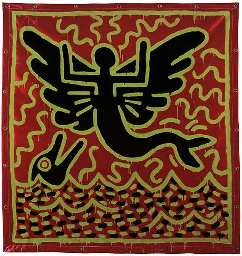 Les 75 meilleures images propos de keith haring sur for Carrelage keith haring