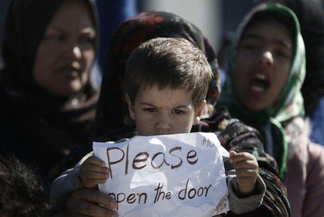 Πρόσφυγες στην Ειδομένη