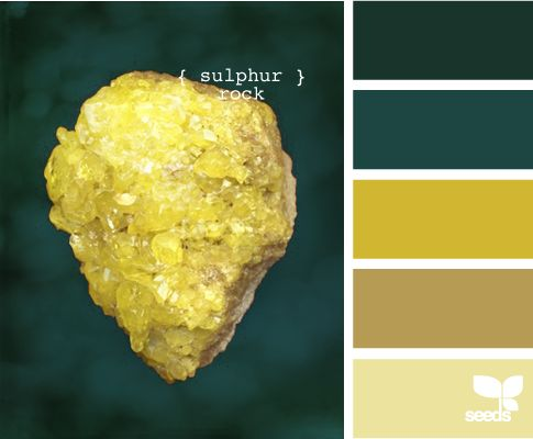 who knew that sulphur could create such a pretty color palatte