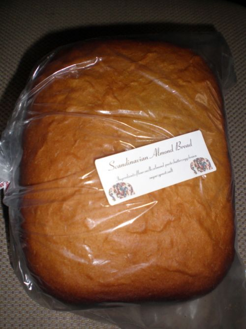 Scandinavian Almond bread..this bread is great and you make it in your bread machine!