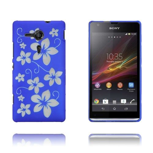 Flowers (Blue) Sony Xperia SP Case