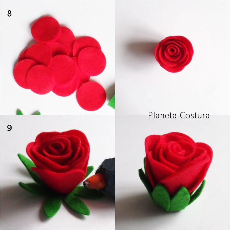 Disfruta de unas flores que no marchitan gracias a este tutorial para elaborar rosas de fieltro.
