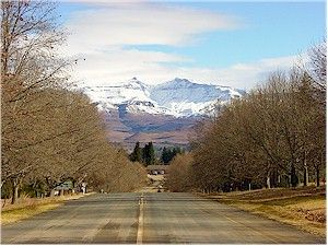 Down the main road driving into Underberg, beautiful place