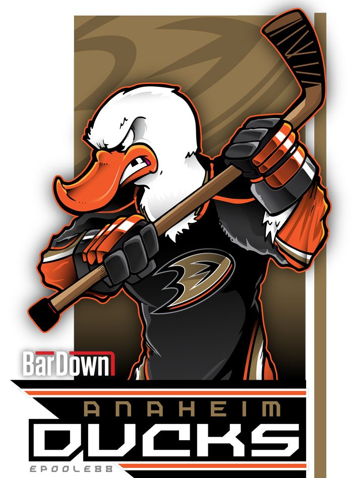 The Anaheim Ducks reimagined. If epoole88 can't make your logo look menacing, you're doing something wrong. (Still, awesome work, man.) Check out Eric Poole's work at epoole88.tumblr.com