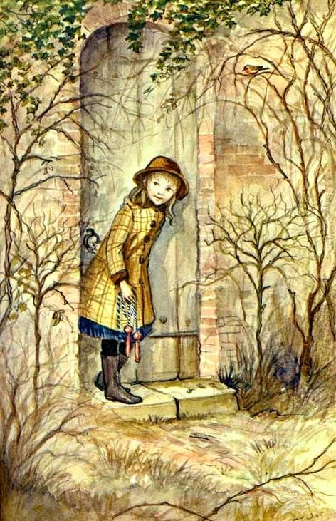 """The Secret Garden, by Frances Hodgson Burnett. """"If you look the right way, you can see that the whole world is a garden."""" My childhood edition had the Tasha Tudor illustrations."""