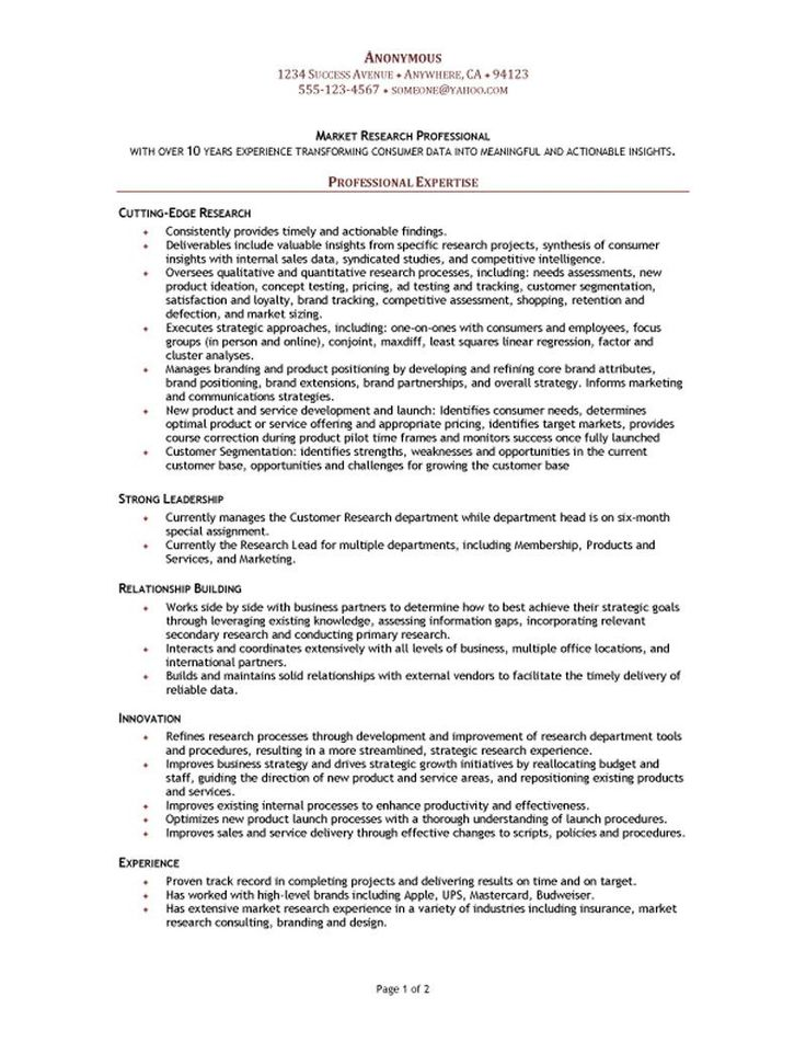 market research manager resume  functional resume