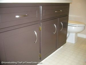 Refinish Your Bathroom Vanity Cabinet For A Fresh Look - The Fun Times Guide to Home Building