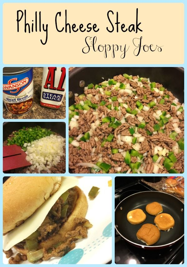 This 30 Minute Meal recipe for Philly Cheese Steak Sloppy Joes tastes amazing! Easy 30 minute dinner idea.