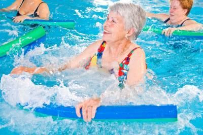 Examples of Aqua Exercises Using a Noodle. I am so doing this.