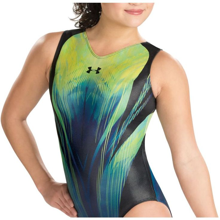 Under Armour Girls' ArmourFuse Matrix Gymnastics Leotard, Size: Medium, Blue