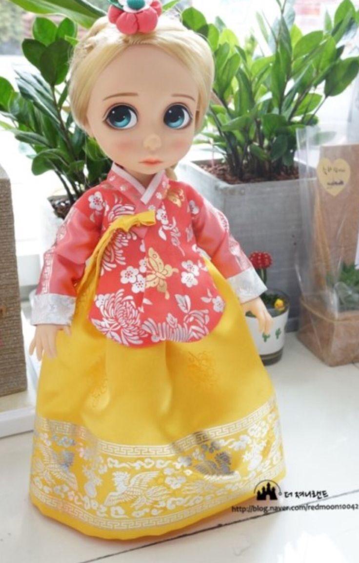 한복 Hanbok : Korean traditional clothes[dress] : Dolls Hanbok #disneydoll #babydoll #hanbok