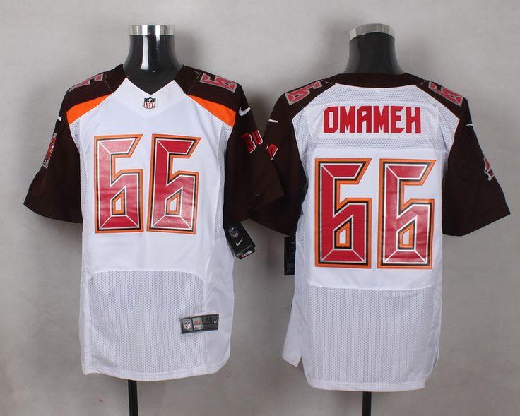 Men's NFL Tampa Bay Buccaneers #66 Patrick Omameh White Elite Jersey