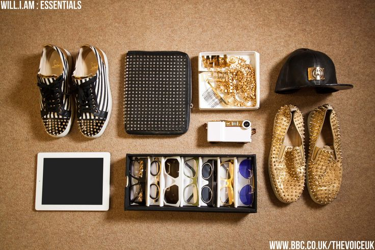 "We asked Will.i.am - ""What could you not live without?"" This photo reveals his answer... #thevoiceuk #william #essentials"