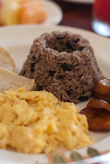Tried making it this weekend and it was yum!! I had it every morning in costa rica- served in a shape similar to photo   Costa Rican Gallo Pinto (beans and rice) recipe | Boulder Locavore
