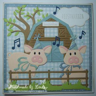 """Handmade by Linda: Feest in boerderij """" Beestenboel """" - Designer van ..."""