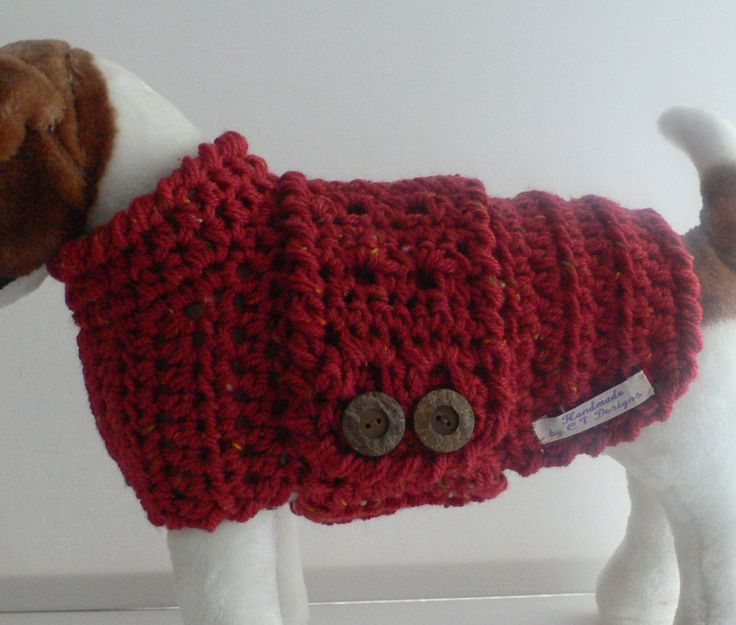 Crochet Dog Sweater, Small Dog Sweater, Small Dog Clothes, Small Dog Outfit, Pet Clothes For Dogs, Terrier Sweater, Puppy Sweater by CTDESIGNSBESPOKEBAGS on Etsy