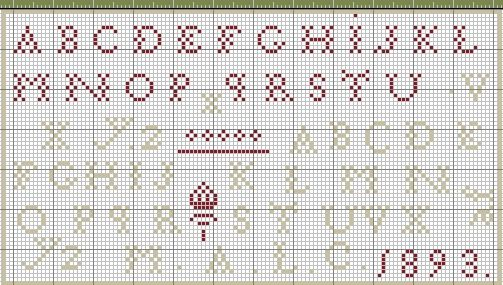 67 Best Images About Cross Stitch Alphabets On Pinterest