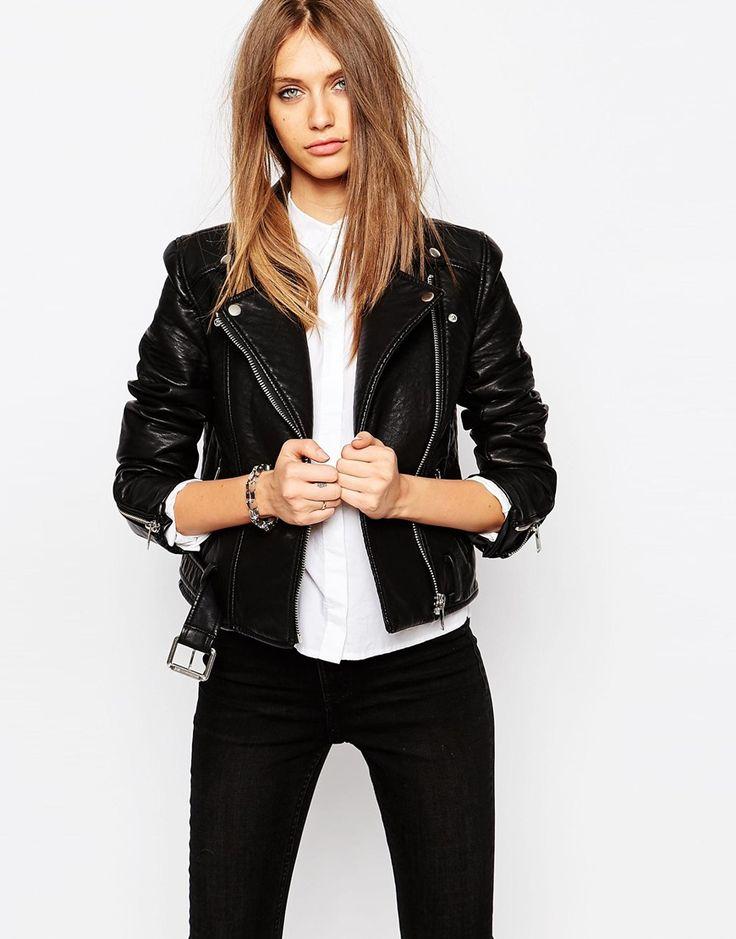 Eleven Paris | Eleven Paris Biker Jacket in Faux Leather x at ASOS