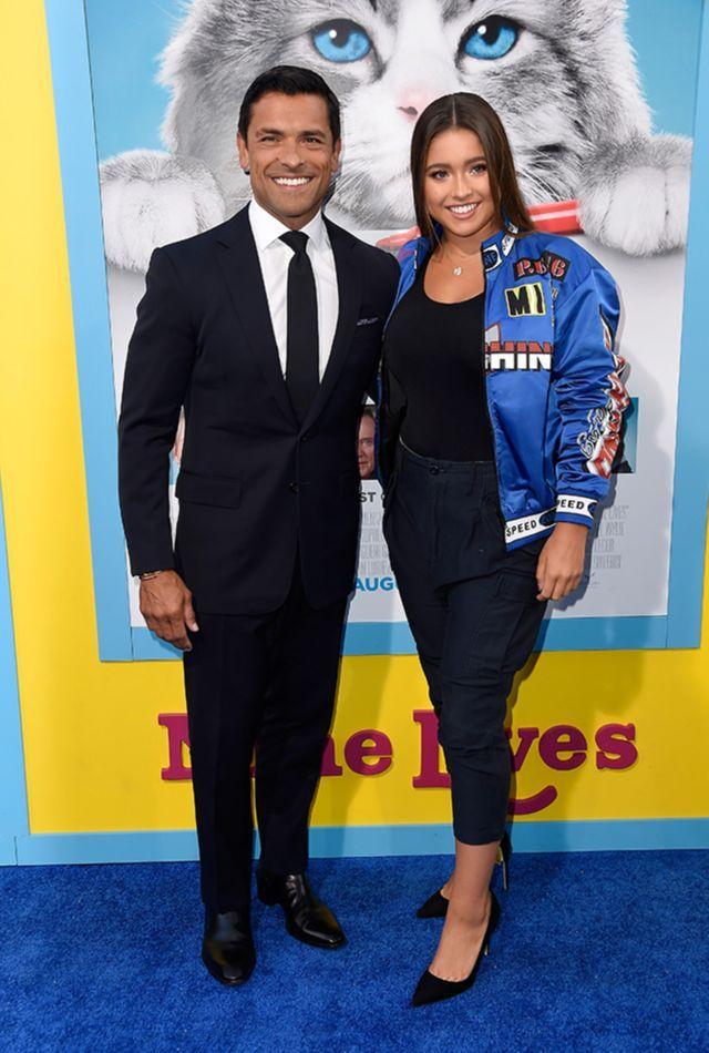Mark Consuelos Brings Daughter Lola to 'Nine Lives' Premiere, Talks Bicoastal Living With Kelly Ripa