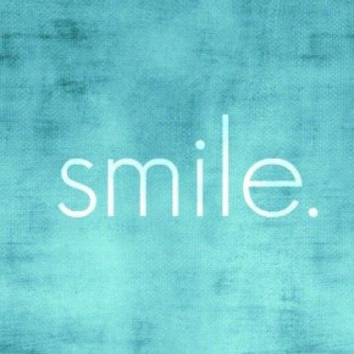 If you don't know what else to do, just... #Smile #Quote