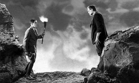 John Boles and Boris Karloff in James Whale's 1931 film adaptation of Mary Shelley's Frankenstein. Photograph: Allstar/Cinetext/UNIVERSAL