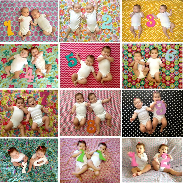 Cute monthly picture idea! 12 months of Twins- this lovely life