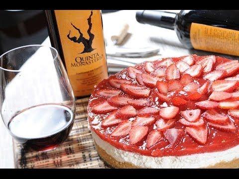 Cheesecake de queso con fresas sin hornear - Pay de fresas sin horno - Unbaked strawberry cheesecake - YouTube