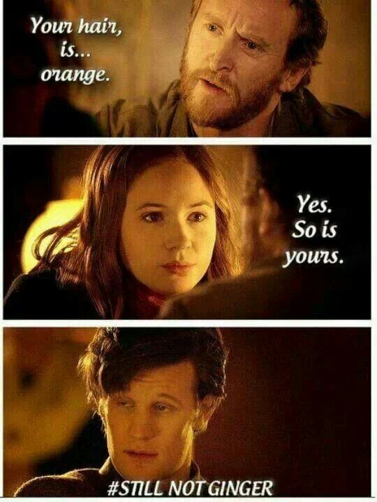 Doctor Who humor - Ginger's are awesome!