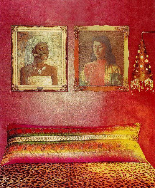 ⋴⍕ Boho Decor Bliss ⍕⋼ bright gypsy color & hippie bohemian mixed pattern home decorating ideas - bedroom