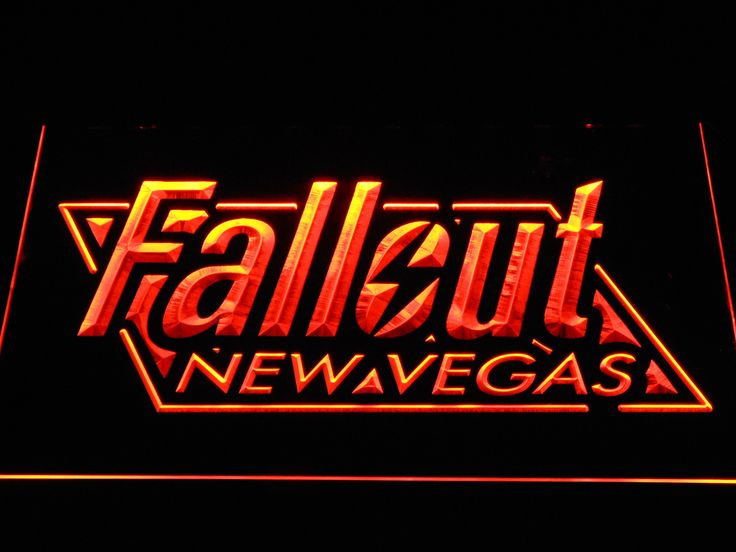 Fallout New Vegas LED Neon Sign