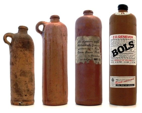 Bols-Genever-Gin-antique-bottles--Daddy almost always had one in the freezer
