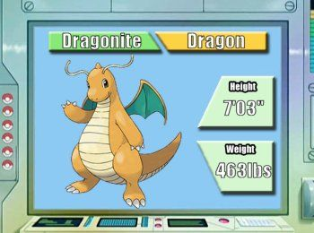 Pokemon of the week: Dragonite  http://www.serebii.net/potw-dp/149.shtml http://www.serebii.net/pokedex-dp/149.shtml http://bulbapedia.bulbagarden.net/wiki/Dragonite_%28Pok%C3%A9mon%29 Pokemon Nature Guide http://www.serebii.net/games/natures.shtml http://bulbapedia.bulbagarden.net/wiki/Nature http://pokemondb.net/mechanics/natures