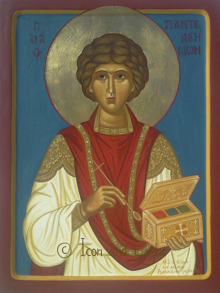 St. Panteleimon by Sister Ambrosia