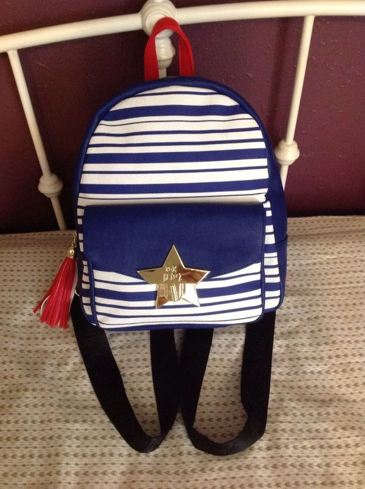 How Patriotic! NWT Star Bright Stripe Red White Blue Backpack by Betsy Johnson   Clothing, Shoes & Accessories, Women's Handbags & Bags, Handbags & Purses   eBay!